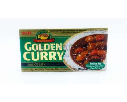 S&B Golden Curry MedHot 240g
