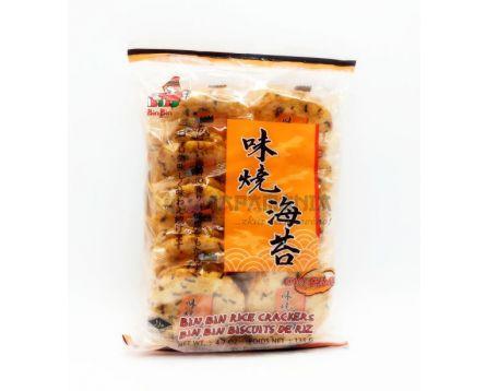 Bin Bin Rýžové krekry s řasou, ostré 135g